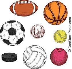 Ice hockey puck with balls for various sport games