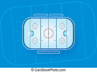 ice hockey rink - ice hockey field vector