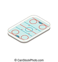 Ice hockey rink isometric icon - Ice hockey rink isometric...