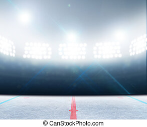 Ice Hockey Rink Stadium - A generic ice hockey ice rink...