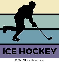 ice hockey silhouette sport activity vector graphic