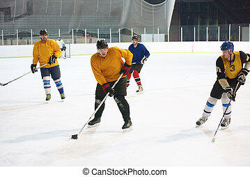 ice hockey sport players in action, business comptetition concpet