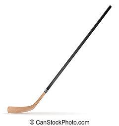 Ice hockey stick isolated on white background. Vector...