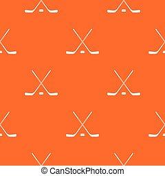 Ice hockey sticks pattern seamless