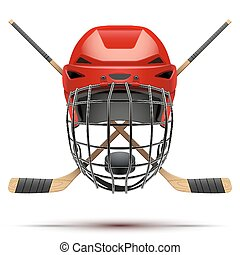 Ice hockey symbol. Design elements