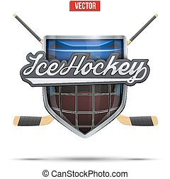 Ice hockey symbol. Design elements - Ice hockey symbol...