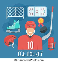 Ice hockey symbol for winter sports games design