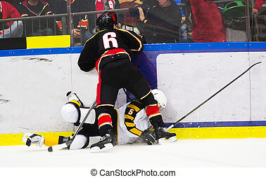 Ice hockey tackle