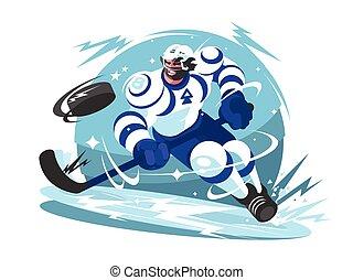 Ice hockey team player