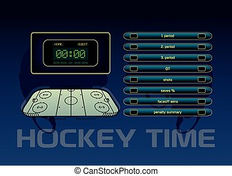 Ice hockey theme
