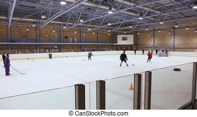 Ice hockey training  - Moscow , Russia