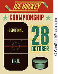Ice Hockey typographical vintage st