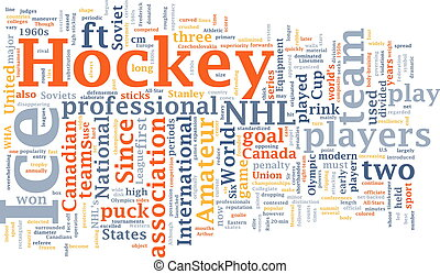 Ice hockey word cloud - Word cloud concept illustration of ...