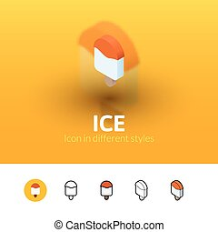 Ice icon in different style