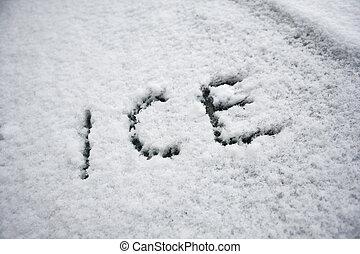 Ice in snow