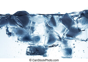 Ice in water