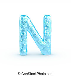 Ice Letter isolated on white background - 3d rendered image