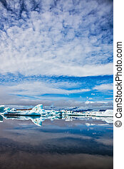 Ice magnificence - Iceland. Ice magnificence. Floating ice...