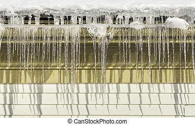 Ice needles with Water Spout