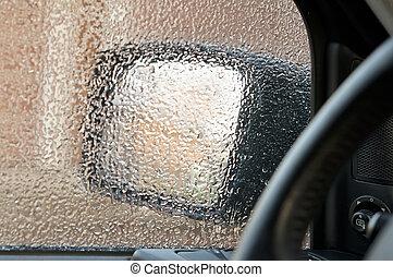 Ice on a Car Window