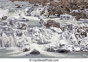 Ice on the Mighty Great Falls