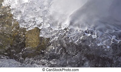 Ice on the Mountain River