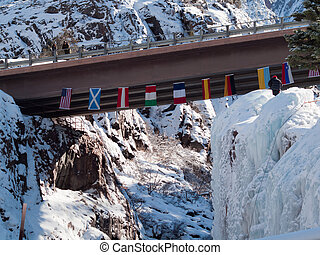 Ice Park - Annual Ice Festival in Ouray, Colorado.