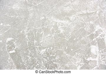 Ice Patterns on Skating Rink