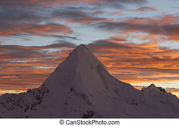 Ice piramide - Nevada Artesonraju, which is rumored to be a...