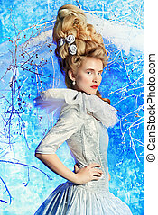 ice queen - Fairy Ice Queen in elegant silver and white...