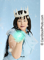 ice queen with ball of energy