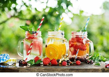 Ice refreshing summer drink