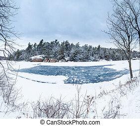 Ice Rink and Skating On a Lake