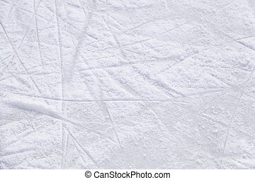 Ice rink, skating rink detail, cold winter