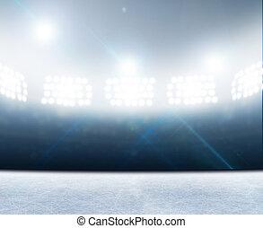 Ice Rink Stadium - A generic ice rink stadium with a frozen...