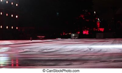 Ice rink with stage colors - Ice rink with different stage...
