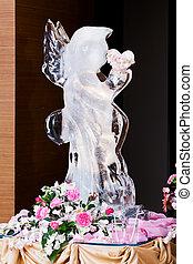 Ice Sculpture at Wedding