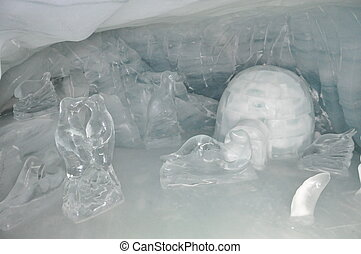 Ice Sculpture in Switzerland