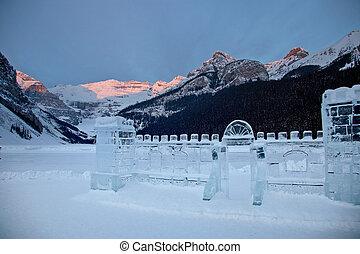 Ice Sculpture Lake Louise Alberta Canada Chateau