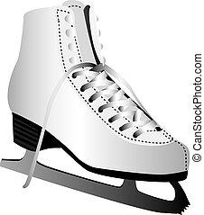Ice skate - Three dimensional illustration of ice skate...