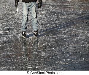 Ice skater on ice