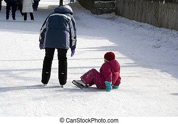 Ice Skater on the Floor