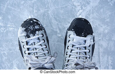 Ice skates closeup