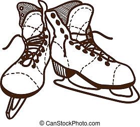 Ice skates isolated on white.