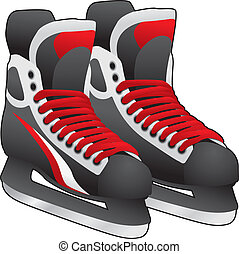 Ice Skates Pair - pair of ice skates on white background