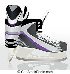Ice skates - sports equipment