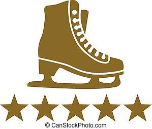 Ice Skates Stars