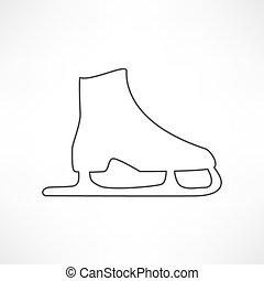 ice skates symbol
