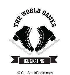 Ice Skating symbol on white background