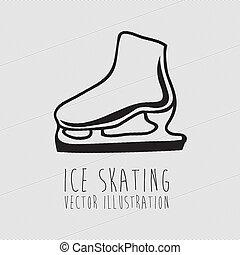 ice skating, - ice skating over white background vector...